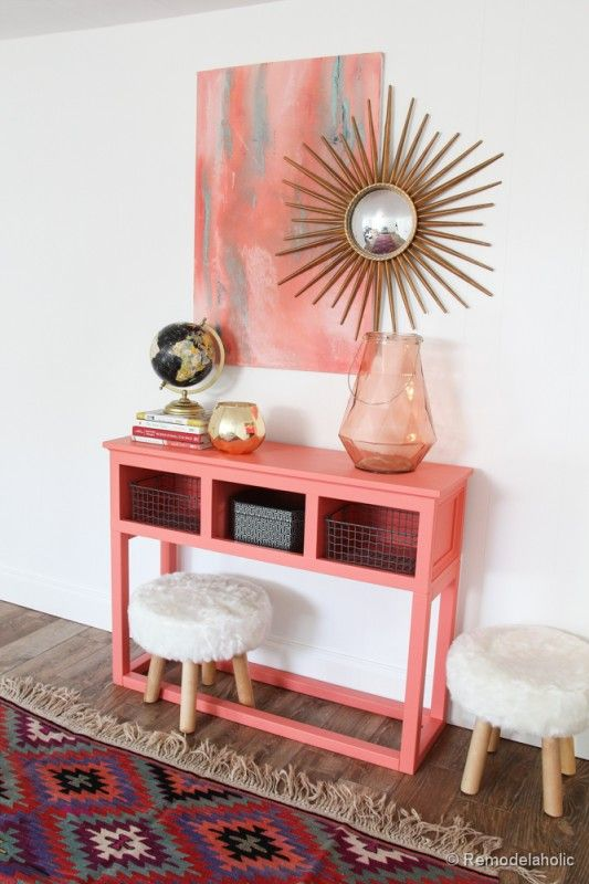 Remodelaholic entry console repurpose