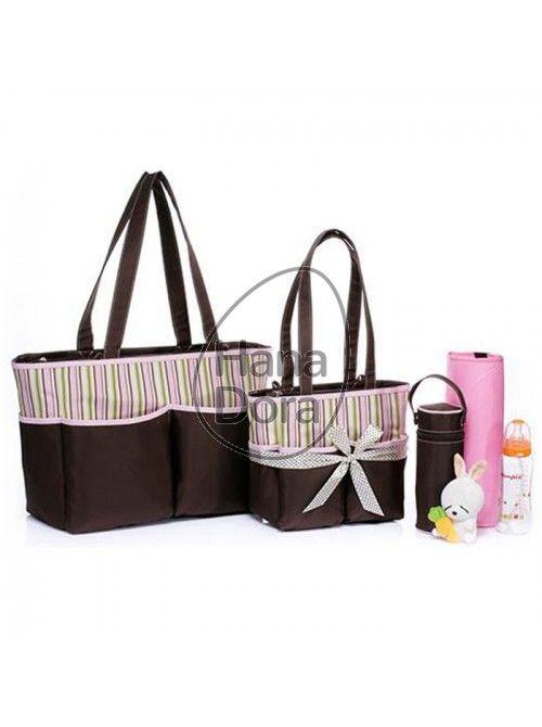 BABY DIAPER BAG 5IN1 TULSA - PINK http://www.hanadora.com/diapering/baby-diaper-bag-5in1-tulsa-pink.html