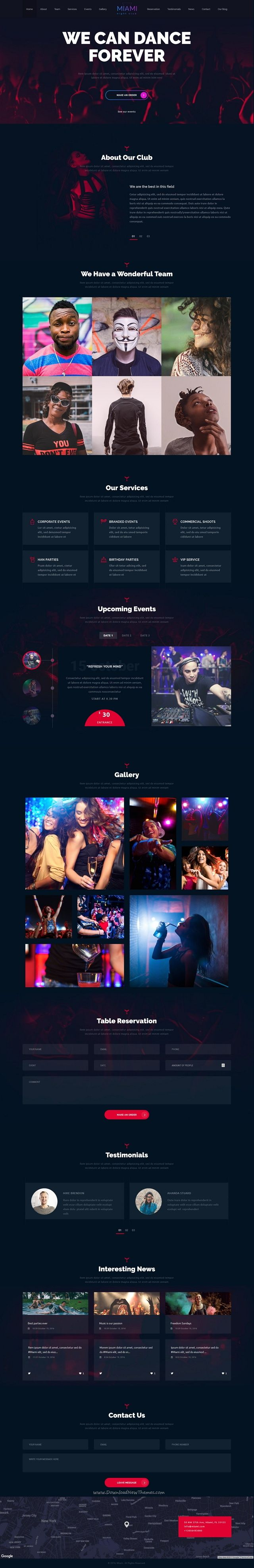 Miami is a powerful 3in1 responsive #WordPress theme with a modern festive design for #musician #danceparty any kind of Night Club, Concert or Festival websites download now➩ https://themeforest.net/item/miami-night-club-responsive-wordpress-theme/18519347?ref=Datasata