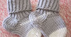 Calcetines para niños con agujas con una descripción y fotos, para principiantes |  atención del recién nacido