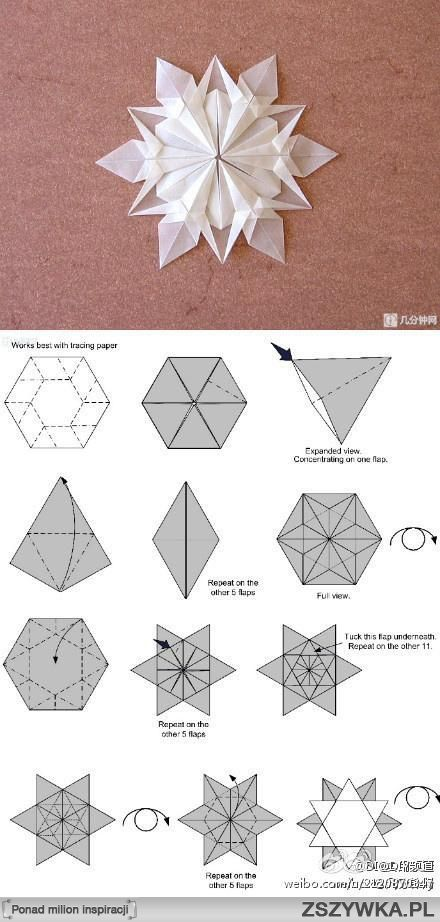 How to fold an origami snowflake- DIY