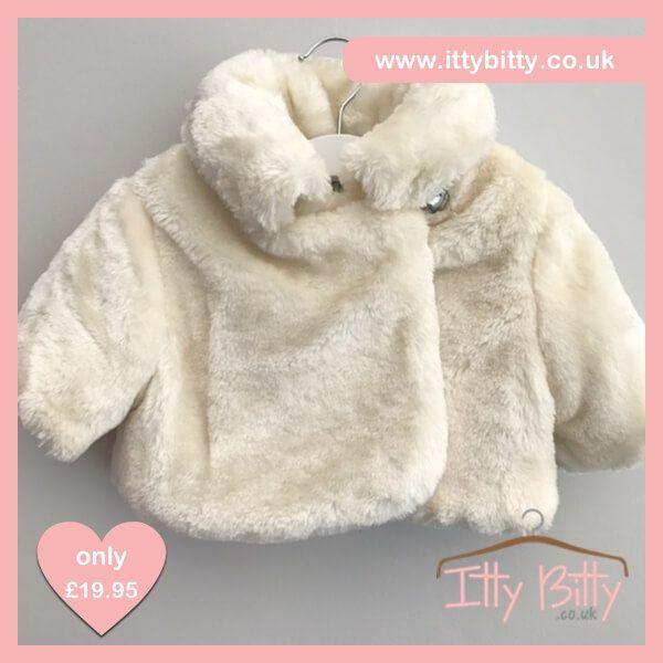 Itty Bitty Short Faux Fur Coat - Baby Boutique Shop #girls_coat