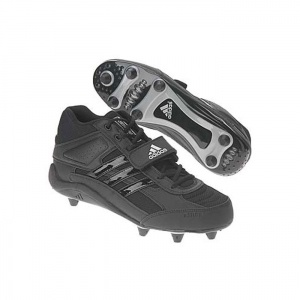 SALE - Adidas EC1038558 Football Cleats Mens Black Leather - Was $64.00 - SAVE $19.00. BUY Now - ONLY $44.80
