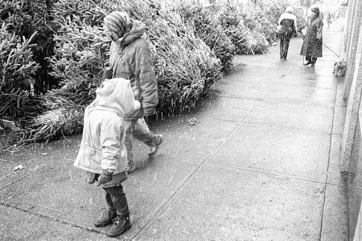 First Snow  http://dave-beckerman.pixels.com/featured/first-snow-dave-beckerman.html  The contrast between the kid, and the older woman; at some time snow is just the greatest thing.  And at some time, it becomes a nuisance.  I'm still with the kid on this one.