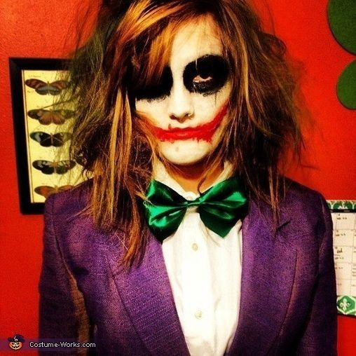 2014 Halloween scary joker bloody face makeup for party - Halloween ...