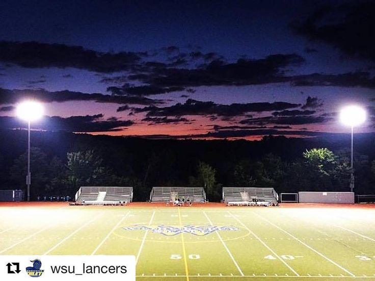Bring your #Lancer pride tonight! #Repost @wsu_lancers  FRIDAY NIGHT LIGHTS! #WSU football season kicks off tonight against Salve Regina at 7pm! Come on out and support the Blue and Gold #LancerNation