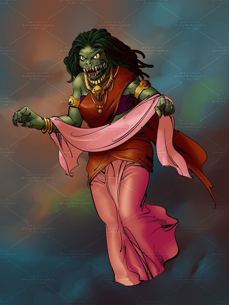 demon character from indian mythology