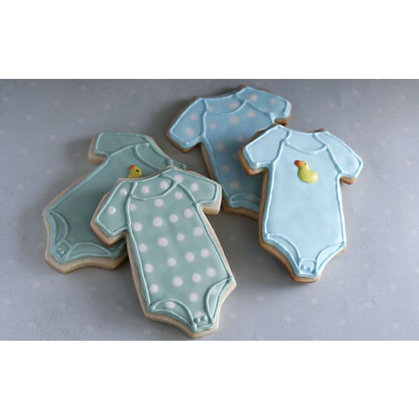 Homemade Baby Shower Boy or Girl Onesies Sugar Cookie Collection (1... ($25) ❤ liked on Polyvore