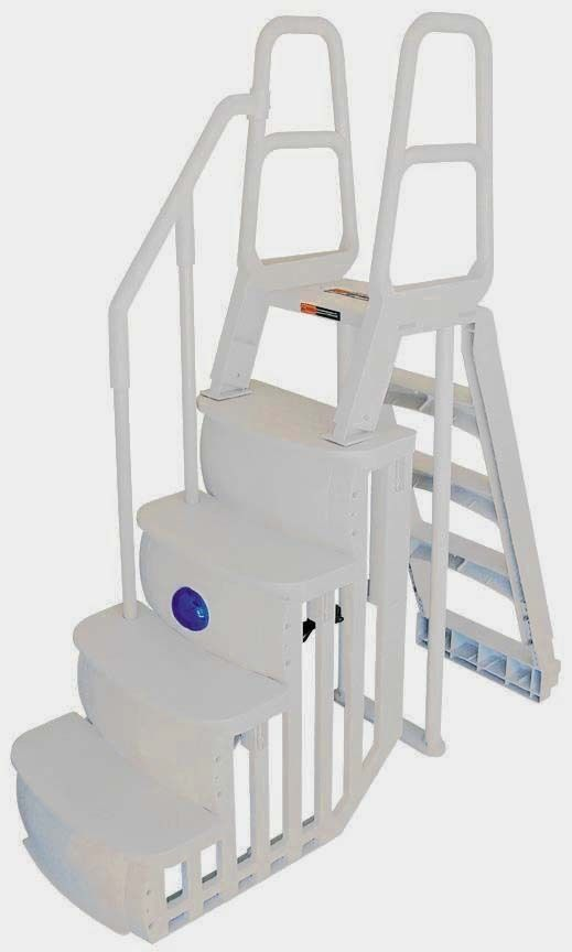 1 of 2: NEW MAIN ACCESS 200100T Above Ground Swimming Pool Smart Step/Ladder System
