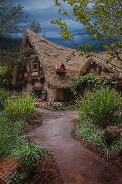 thatched roof cottage