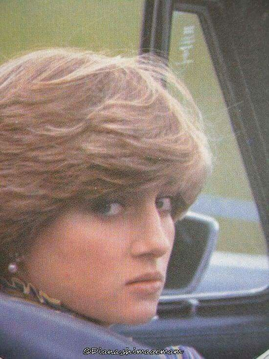 June 16, 1981: Lady Diana Spencer in Prince Charles' Aston Martin as he plays polo.