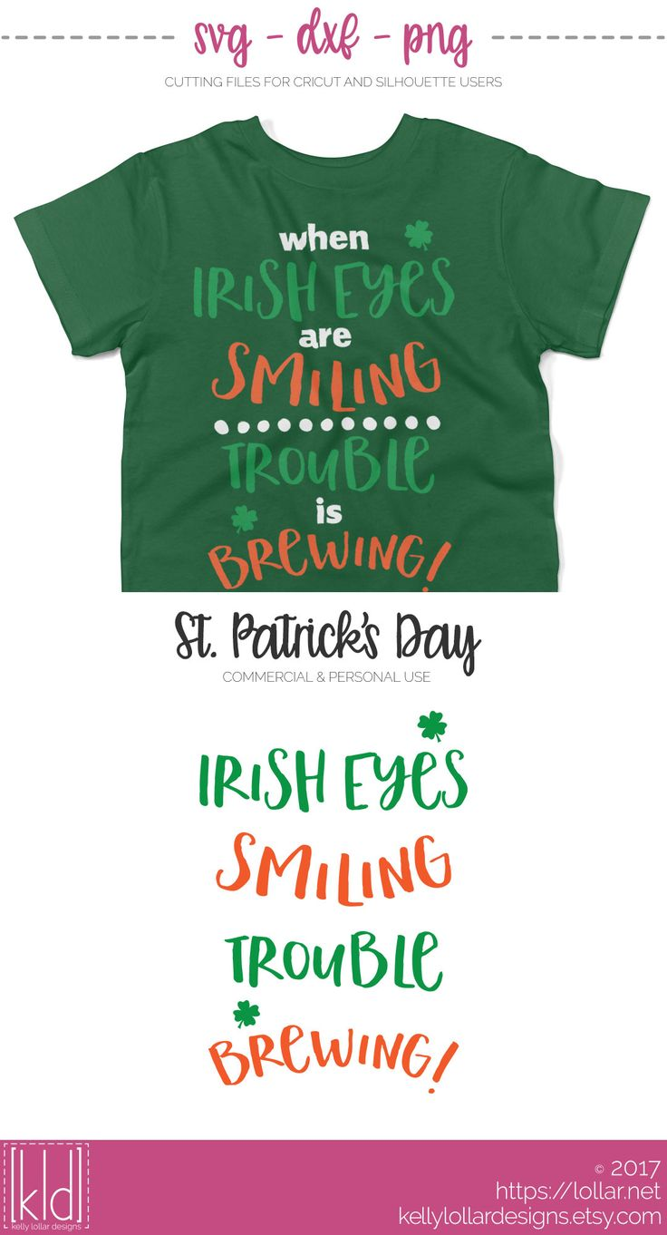 When Irish Eyes Are Smiling, Trouble Is Brewing - St. Patrick's Day svg file | Kelly Lollar Designs