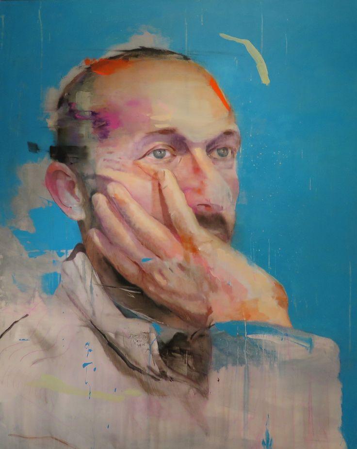 Lou Ros, PB2, Oil on canvas, 146 x 114cm