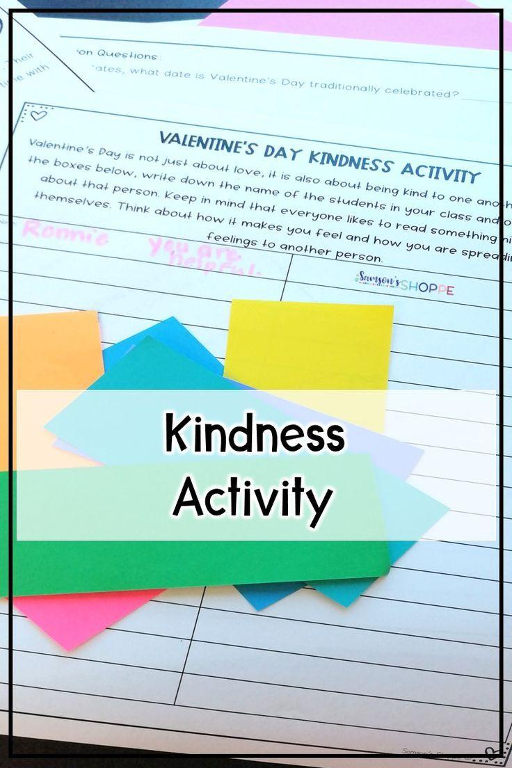 Valentine S Day Activitiy Kindness Activities Activities Literature Lessons [ 1104 x 736 Pixel ]