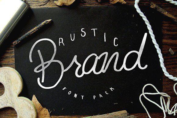 Rustic Brand - 5 Font Pack by Noe Araujo on @creativemarket
