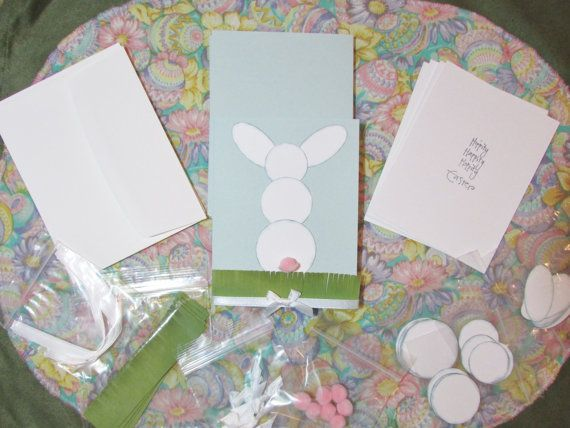 Easter card making kit by CrazyCardLadyandmore on Etsy