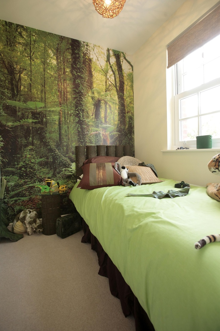 What about a jungle inspired bedroom for those