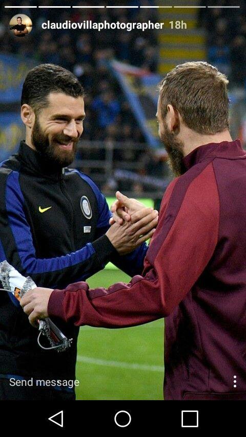 Candreva & De Rossi - Inter Milan Instagram story #seriea #soccer #football #calcio