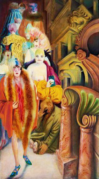 OTTO DIX. Großstadt (Triptychon). 1928.