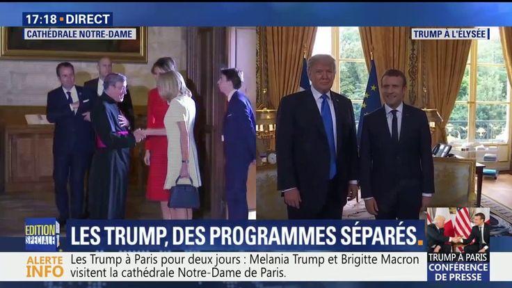 Donald Trump et Emmanuel Macron se sont retrouvés à l'Elysées. Les premières dames visitent Notre Dame