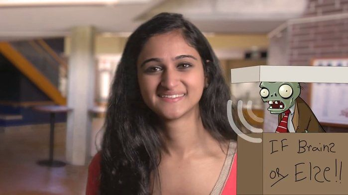Hour of Code: Saloni on the If/Else block - Technologies,STEM (3,4,5,6).  The Hour of Code is a one-hour introduction to computer science, designed to demystify code and show that anybody can learn the basics.  In this video, Saloni explains what an If/Else statement is and looks at how If/Else blocks can be used to program the movement of a zombie character.