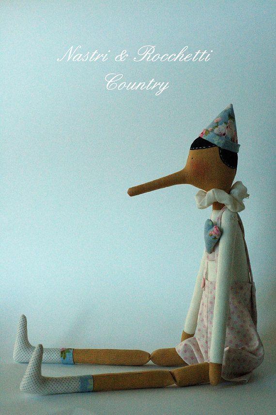 Tilda Pinocchio by Nastrierocchettishop on Etsy, €60.00
