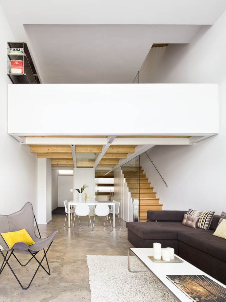 Decoracion moderno comedor sala de estar escalera - Escalera tres peldanos ...