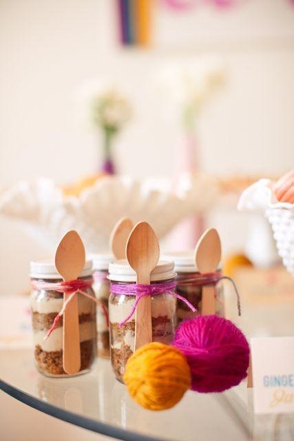 Picnic pudding jars!