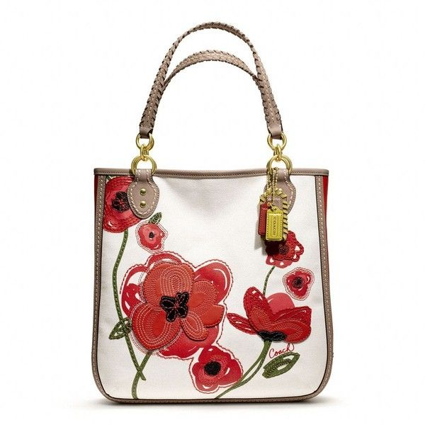 852 best weibo 001 images on pinterest sew bags tote bag and coach poppy placed flower tote mightylinksfo