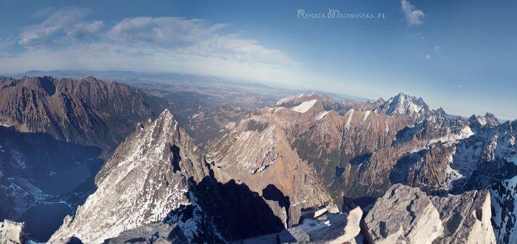 Tatry listopad - wejście na Rysy  Rysy - the highest peak in polish Tatra Mountains