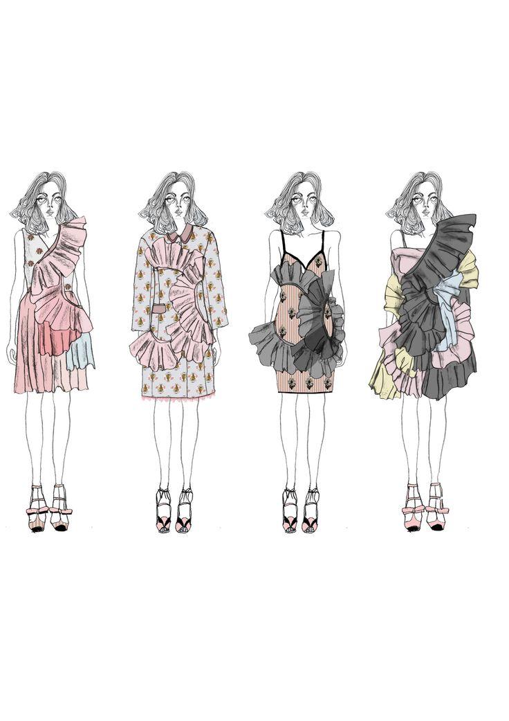Fashion Sketchbook - fashion illustrations; lineup; fashion portfolio // Giryung Kim