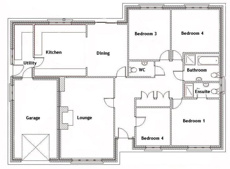 Split Bedroom House Plans For 1500 Sq Ft 4. in 2020 Four