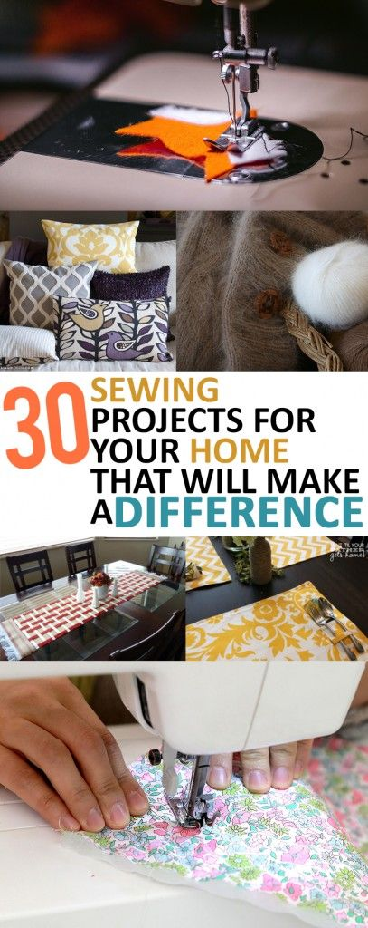 30 Sewing Projects that you need in your home- sewing DIY projects, homemade home decor and homemade pillow covers and more!