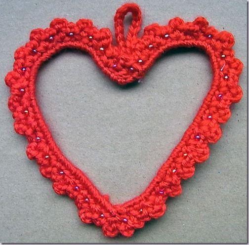 voor mij - voor jou: gehaakt hart en ijzerdraad