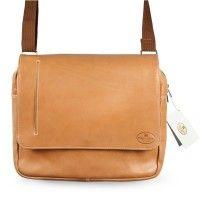 Hamosons – Elegante Laptoptasche / Notebooktasche bis 14 Zoll, aus Nappa-Leder, Natur-Beige, Modell 938 kaufen