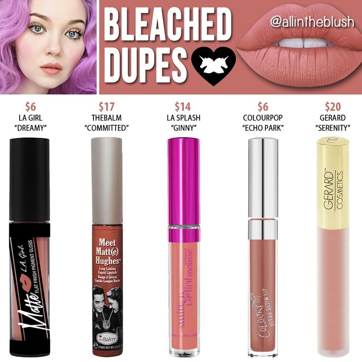 Lime Crime Bleached Velvetine Liquid Lipstick Dupes