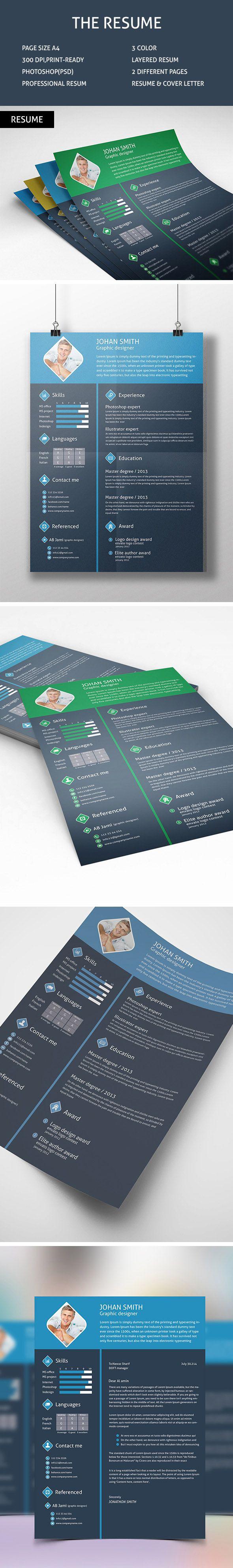 10 Best Free Premium Resume Design Templates Images On Pinterest