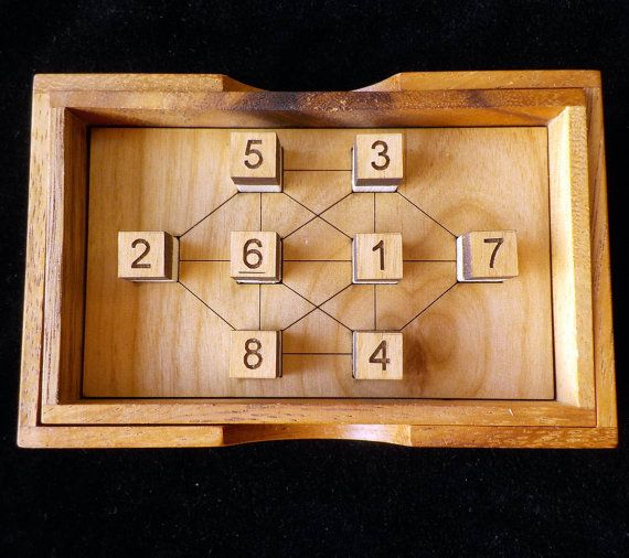 No Connection wood brain teaser puzzle - unique design from Martin Gardner book