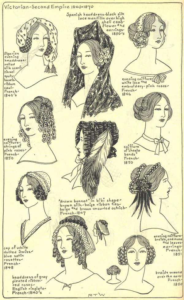 Village Hat Shop Gallery, Chapter 15 - Victorian and Second Empire 1840-1870.