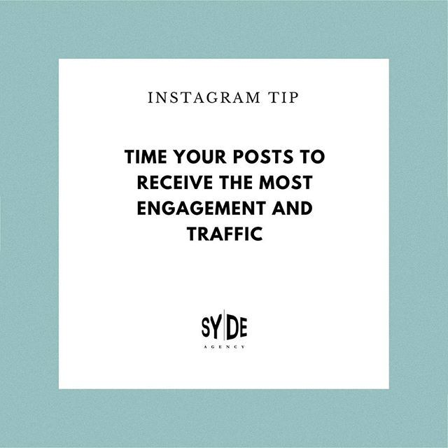 Reposting @sydeagency: When do you notice your users are most active? Statistics show that most evenings between 5-7pm  are high traffic times for Instagram . . . Remember to always check Syde Agency for marketing tips and tricks. We help build your band of followers for you by expanding the face of your brand, and generating higher engagement. . . .  #marketing #branding #socialmedia #business #marketingdigital #entrepreneur #startup #digitalmarketing #advertising #entrepreneurship