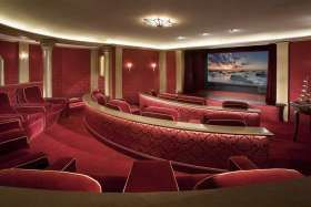 BELOW: Audio Images of Tustin, Calif., faced acoustical challenges in this semicircular room designed to deliver a state-of-the-art theater ...