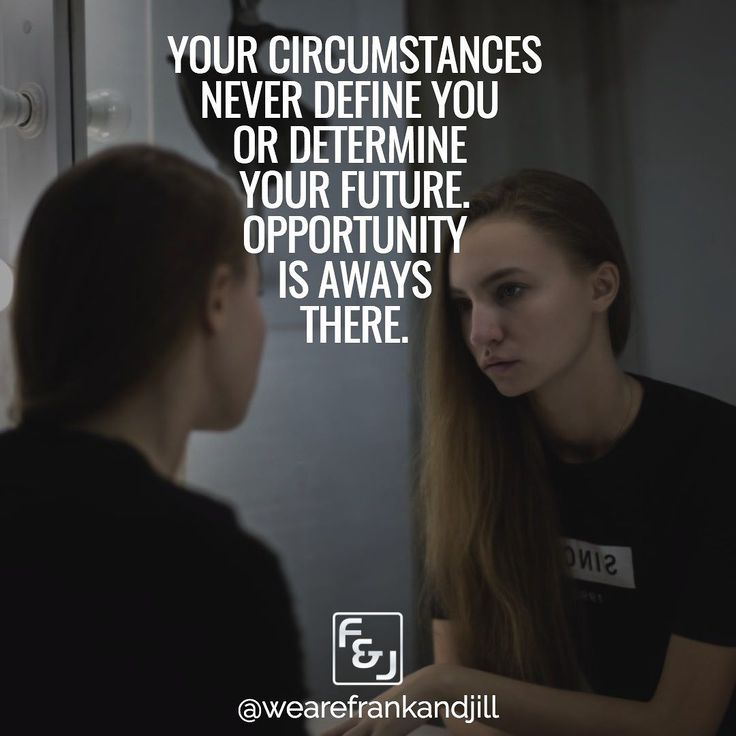 Your circumstances and your past never define you or determine your future. Opportunity is always there.  Double tap if you agree and tag someone who needs to see this. follow us @wearefrankandjill