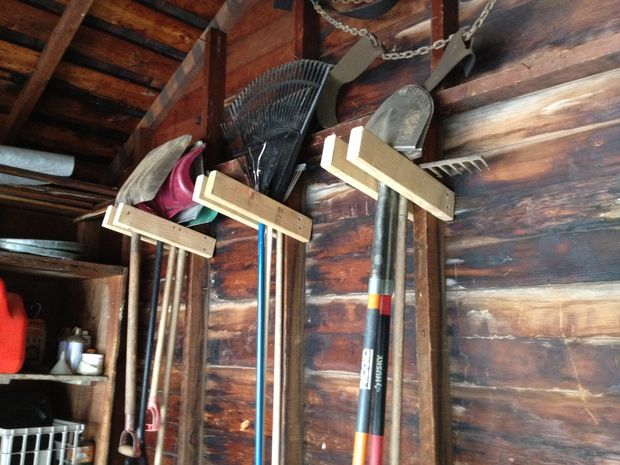 Cheap and Easy Garage Tool Hangers  Your DIY ideas don't have to cost a fortune. Try this one to keep tools handy.