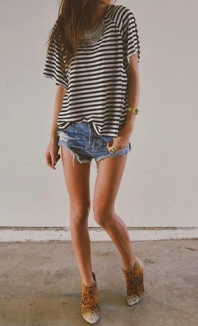 Stripes + printed booties.