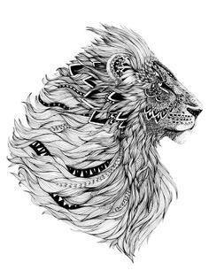 Lion african tattoo