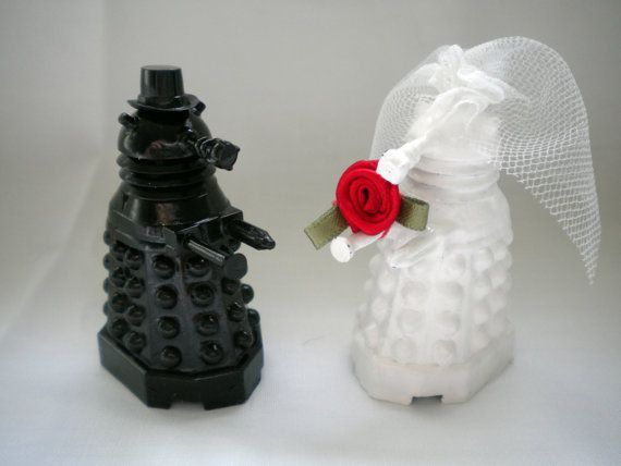 Doctor Who Wedding Cake Toppers Dalek Bride and by HausofAriella, $50.00. WANT!!
