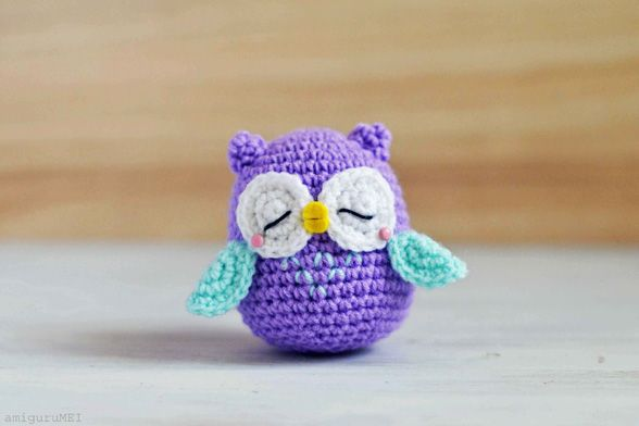 Get the free pattern & tutorial of a sleepy owl amigurumi, Mr. Murasaki, along with an exclusive interview with the designer, Mei Li of AmiguruMEI. - Page 3 of 3