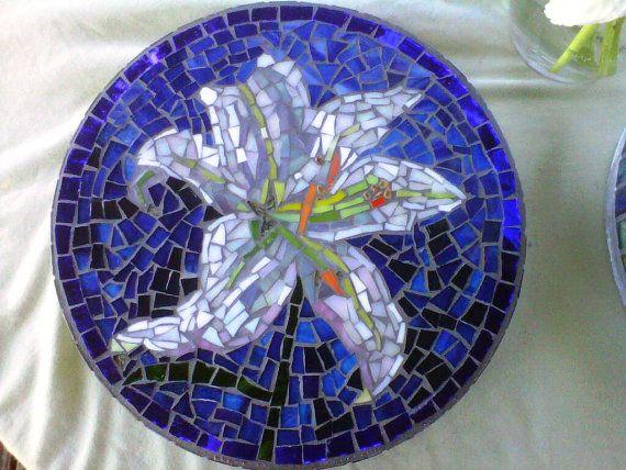 Unique Garden Stepping Stones | Custom designed mosaic garden stepping stones by midcenturymosaics