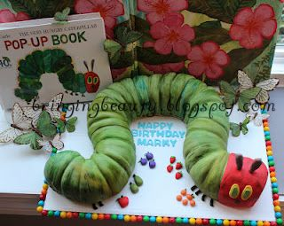 "A Very Hungry Caterpillar"" Birthday Cake! tutorial  Doesn't have to be a birthday. Could do just for fun with caterpillar unit.  http://bringingbeauty.blogspot.com"