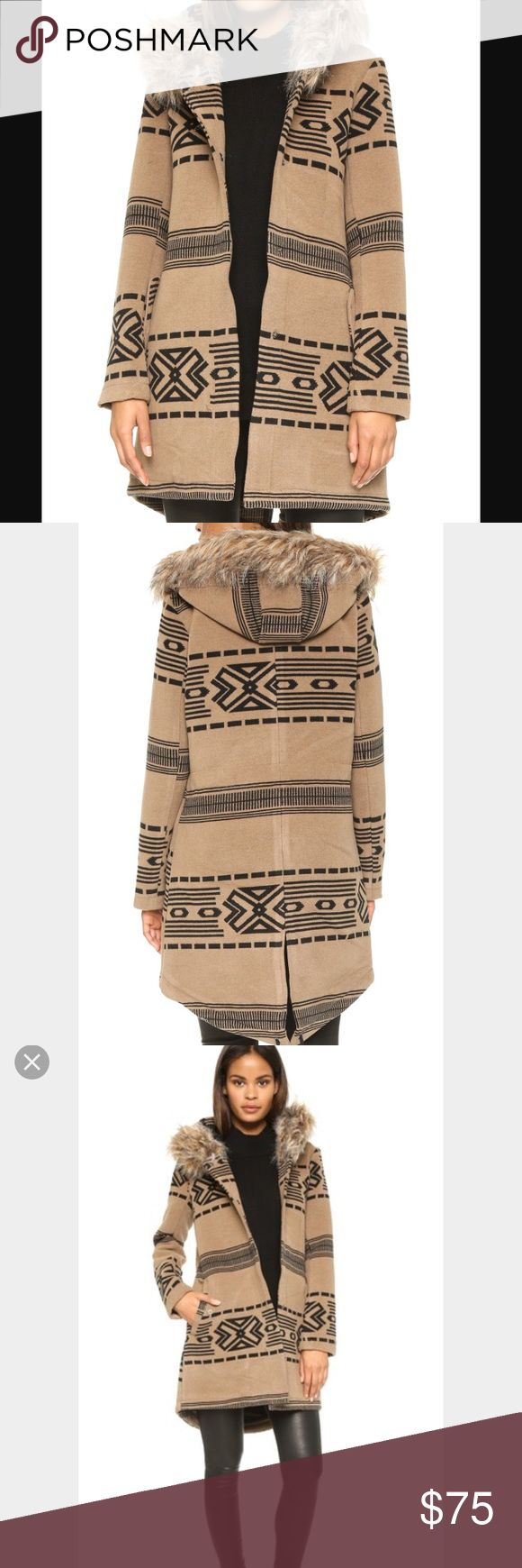 BB Dakota Tribal Coat 😍 SOLD OUT EVERYWHERE‼️ Beautiful coat, worn for a season - still in great condition! Some pilling as shown in pics but definitely a lot of life left in this coat! Make me an offer 😊 BB Dakota Jackets & Coats